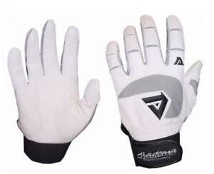 Akadema BTG400 Series Adult Baseball Softball Batting Glove Pair Pack