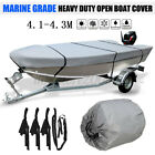 13.45-14ft 210d Heavy Duty Open Boat Cover For Open Styled Boat-trailerable