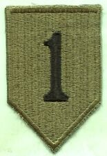 US Army Early Vietnam Era 1st Infantry Division OD Subdued Patch Cut Edge