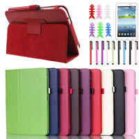 Leather Case Cover For Samsung Galaxy Tab 3 7Inch P3200 T210 Tablet  Stylish