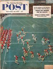 1954 Saturday Evening Post November 20 - Washington GA; Football; Sturgeon MO