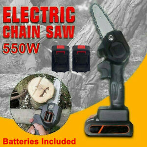 """4"""" Cordless 550W Electric Chainsaw Woodworking Wood Pruner for Makita Batteries"""