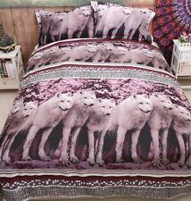 Wolf Doona Duvet Quilt Cover Set Queen size Totem Animal Spirit Guide Aus stock