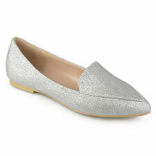73a6bd682b60 JOURNEE Collection Womens Kinley Pointed Toe Loafers Silver Size 10.0