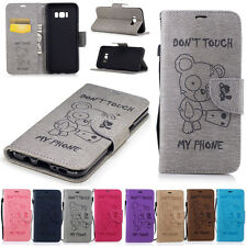PU Leather Magnetic Flip Stand Card Slot Wallet Case Cover For Samsung Huawei LG