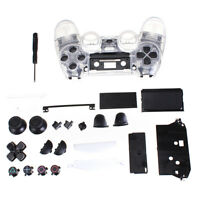 Clear Shell Full Housing case Controller cover for PS4 Playstation 4 F4P5