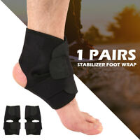 1/2 Pcs Sports Pain Relief Compression Ankle Brace Support Stabilizer Foot Wrap