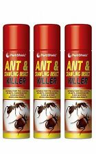 3 X Household Ants Killer Spray Ant & Crawling Flea Cockroach Insect Kill 300ml