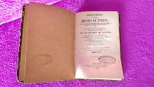 LIBRO DE MEDICINA, TESORO POBRES, REMEDIOS, A. DE VILLANUEVA, A. BANDINELLI 1869