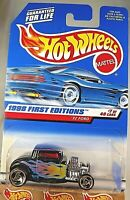 1998 Vintage Hot Wheels #636 First Editions 7/40 32 FORD Black w/RZR Spoke China