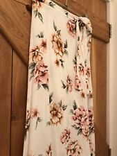 Newlook Size 8 Wrap Around Cream Skirt Petite Pastel Flowers Wedding