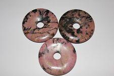 Edelstein Anhänger, Donut, Rhodonit, Edelstein Donuts, 40 mm