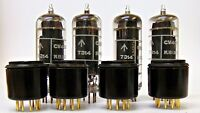 6CH6 CV4055 Brimar Tube with EL84 Adapter Sets of 4 (2 matched pairs)