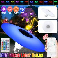E27 RGB bluetooth Musik Glühbirne Deckenlampe RC Bunt Heim Dekor Lampe