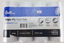 """12 ROLLS 2 1/4"""" X 150' PAPER ROLL CREDIT CARD MACHINES CASH REGISTERS CALCU"""