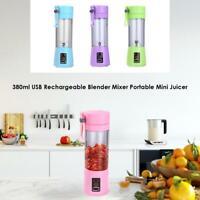 USB Elektrische Fruchtpresse Smoothie Maker Mixer Shaker Flasche Portable 380ml