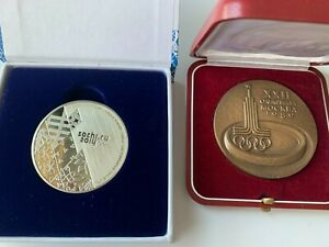 Olympic Medals Participant Sochi 2014 Moscow 1980 in box Original Rarity