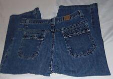 """Womens RIDERS Denim Jean Crop Capri Pants Wide Leg Stretch Size 10 Inseam 20"""""""