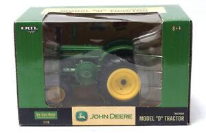 John Deere Model D Die Cast Metal 1:16 Model Tractor