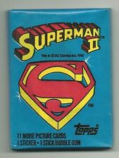 Superman 2 Trading Cards (Topps, 1980) Wax Pack