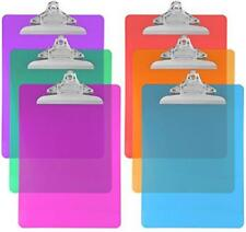 Trade Quest Plastic Clipboard Color Letter Size (Pack of 6) (Assorted)