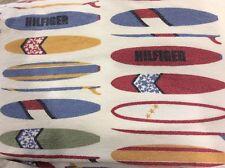 Tommy Hilfiger Flannel Sheet Set Full 4-Piece Surfboard Nautical Coastal Beach