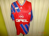 "FC Bayern München Original Adidas Heim Trikot 1993-1995 ""OPEL"" + Nr.3 Gr.L-XL"