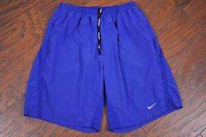 "Nike Dri-Fit 9"" Distance Lined Run Shorts Purple Men's Large L"