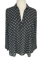 TORRID Black White Polk Dots Basic Tunic Blouse Chiffon Women Plus Size 0