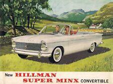 Hillman Super Minx Series II Convertible 1962-64 USA Market Foldout Brochure