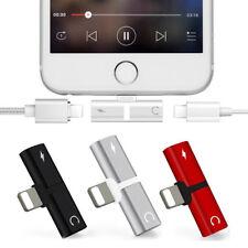 Para iPhone X 8 7 Plus 2 en 1 Audio Auriculares Adaptador Cargador Cable Divisor