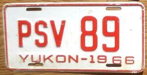 1966 Yukon PSV License Plate Number Tag