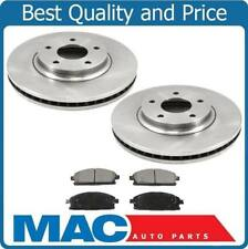 New Front Disc Brake Rotors and Ceramic Brake Pads for Nissan Quest 2004-2009