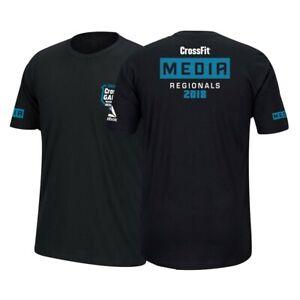 Reebok 2018 CrossFit Games Regionals Men's Black Media Tee T-Shirt