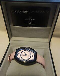 Montres De Luxe Women's EX L 9203 Estremo Quartz Pink Dial Watch new $1400