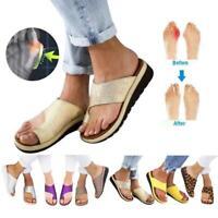 Zapatos de sandalias con para mujeres de Peep Toe Corrección Toe Zapatillas