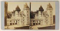 Francia Château Da Pau Foto Stereo PL55L3n Vintage Albumina c1870