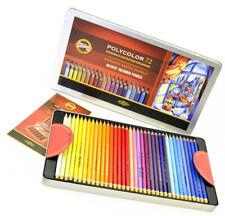Colored Pencils KOH-I-NOOR Polycolor 72 Colors 3827 in Metal Box