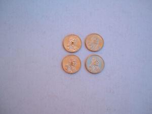 "4 BU 2011-P Native American ""Wampanoag Treaty"" Dollars."