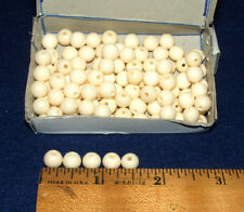 Box of 100 Round Bone Beads White 8 mm Native Crafts Jewelry Making