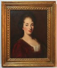Vintage Oil on Linen Academic Copy of Venetian Woman Portrait-Vittore Ghislandi