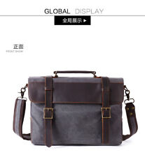 Mens Casual Vintage Satchel Messenger Man HandBag Laptop Briefcase Leather Bag
