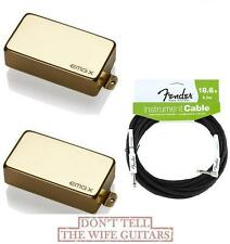 EMG 81X & 60AX GOLD ACTIVE SOLDERLESS HUMBUCKER PICKUP ( FREE FENDER 18FT CABLE)