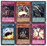 Ω YUGIOH Ω Lot de 6 Belles Cartes Lot N° LYM 2