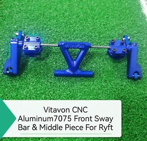 VITAVON CNC Alu7075 Front Sway Bar for Axial RBX10 Ryft 4WD Bouncer 1/10 Blue