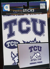 "HORNED FROGS TCU  Laptop Decals Sticks 6"" & smaller peel n stick"