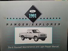 1991 FORD RANGER EXPLORER Do-It-Yourself Maintenance Light Repair Manual Motor