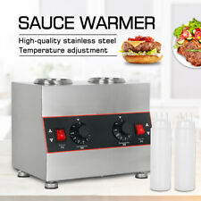 More details for commerical electric sauce warmer machine hot chocolate warming with 2 bottle