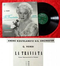 LP ANDRE KOSTELANETZ la traviata opéra coupe pour o