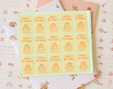 Happy Birthday stickers 30pc gift baking cupcake product DIY craft labels seals